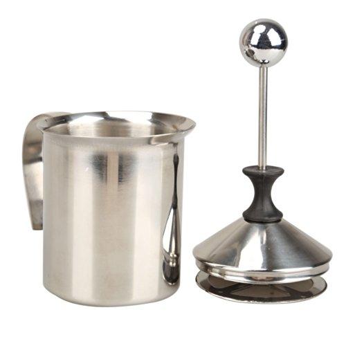 Vktech 400ml Stainless Steel Double Mesh Milk Frother Milk Foamer Milk Creamer (400ml/13.5oz)