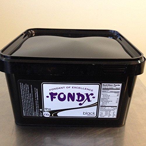 FondX Rolled Fondant Icing Black 5 Pounds