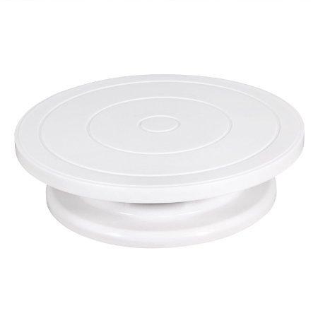 OPACC 10 inch Cake Turntable RevolvingRotating Cake Decorating Stand  Cake StandCake Decorating Supplies White