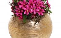 6-75-Inch-Round-Modern-Metallic-Gold-Tone-Ridged-Ceramic-Plant-Flower-Planter-Pot-Decorative-Bowl-Vase-33.jpg